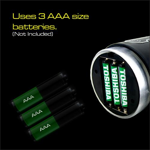 Sản phẩm sử dụng 2 pin size AAA